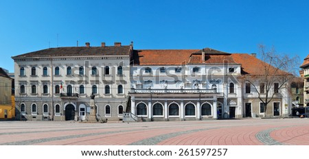 timisoara city romania Army House landmark architecture - stock photo