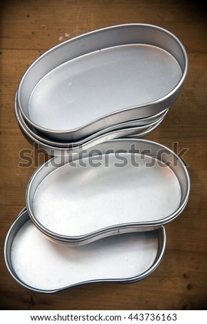tin box for lunch - stock photo