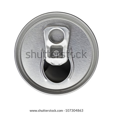 tin can top view - stock photo