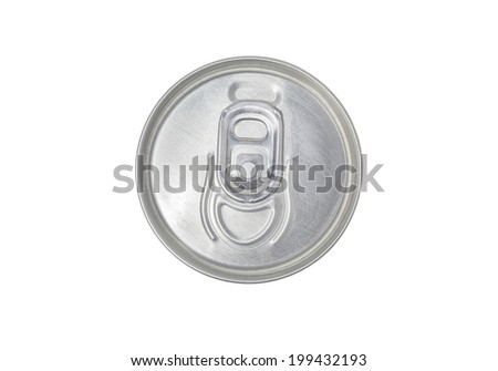 Tin Can top view, coke, isolated - stock photo