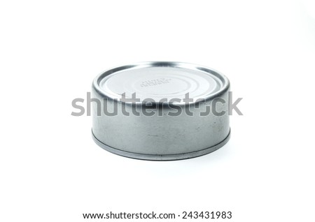 Tin metallic can isolated on white background for new graphic de - stock photo