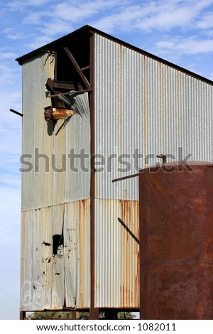 Tin Structure Two - stock photo