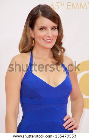 Tina Fey at the 65th Primetime Emmy Awards at the Nokia Theatre, LA Live. September 22, 2013  Los Angeles, CA - stock photo