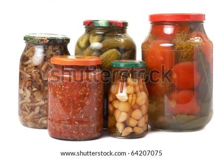 tinned vegetables - stock photo