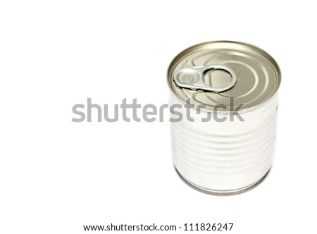 Tins canning, with a shelf life - stock photo