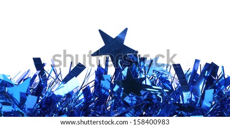 Tinsel. Christmas decoration. - stock photo