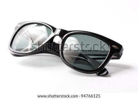 Tinted glasses on a white background - stock photo