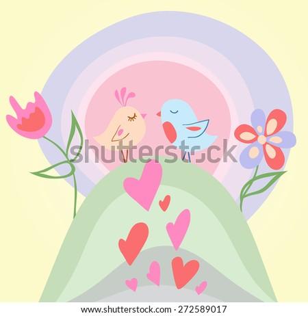Tiny love bird - stock photo