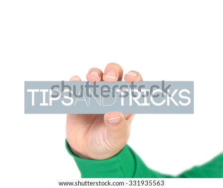 Tips And Tricks - stock photo