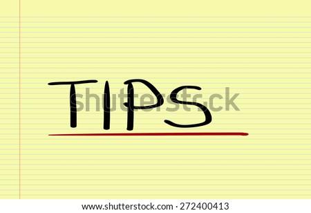 Tips Concept - stock photo
