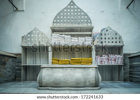Tipycal historic hammam in Istanbul, Turkey - stock photo