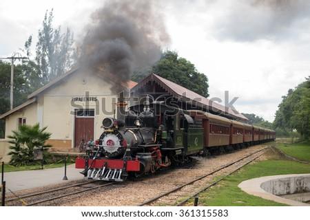 Tiradentes, BRAZIL - January 08, 2016:  Mad Maria / Old train in Minas Gerais, Brazil - stock photo