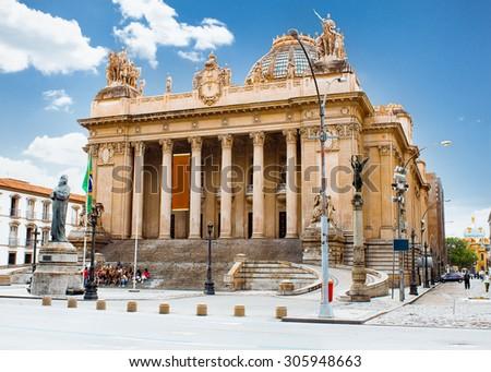 Tiradentes Palace in Rio de Janeiro, Brazil. Legislative Assembly of Rio de Janeiro - stock photo