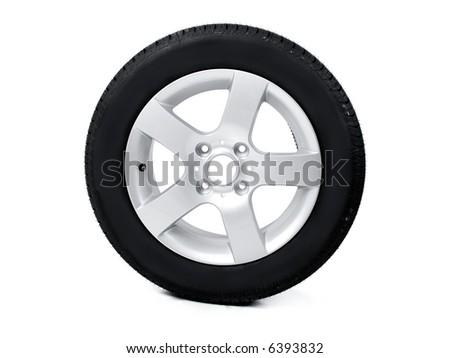 Tire and sport rim - stock photo