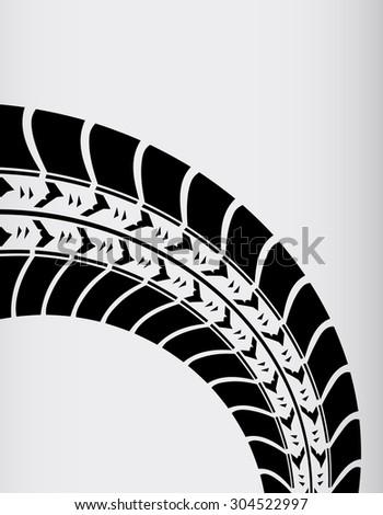 tire track background - stock photo