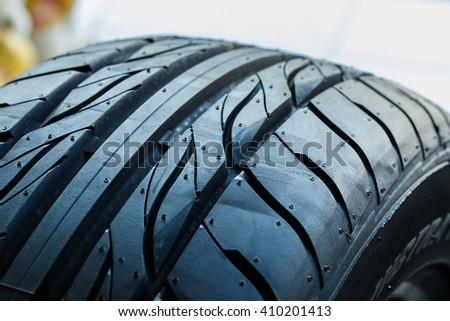 Tire tread pattern, rubber,tire, tread, rubber wheels - stock photo