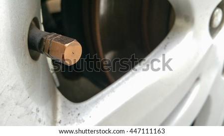 Tire tube - stock photo