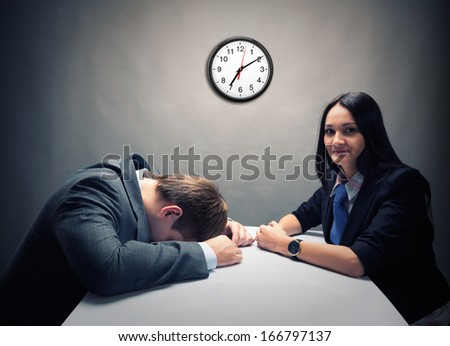 Tired - stock photo