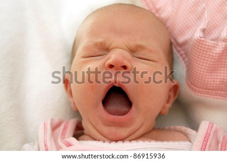 Tired Baby - stock photo