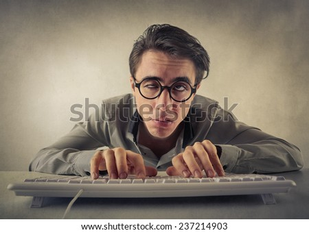 Tired employee  - stock photo