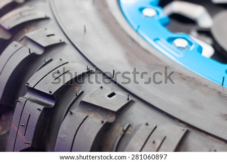 Tires for sale at a tire store - stock photo
