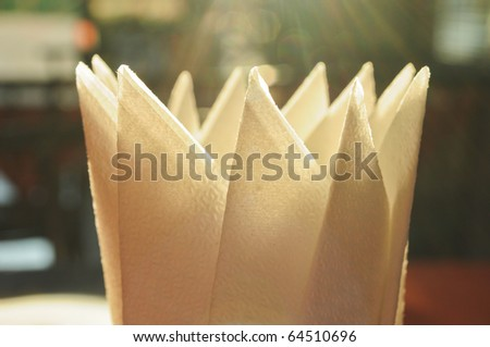 tissue and light - stock photo