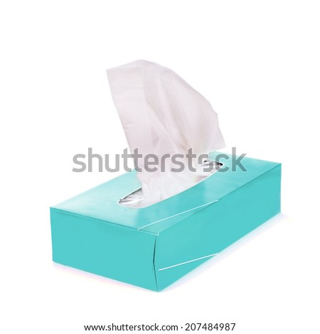Tissue box - stock photo