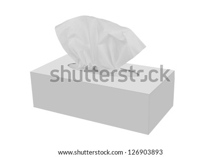 Tissue box isolated on a white - stock photo