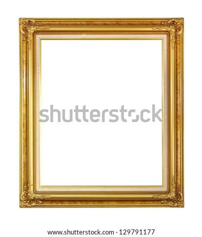 Tissue box. (Retro Metal gold) on white background - stock photo