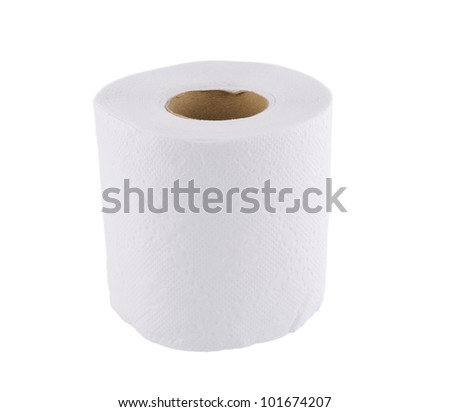 Tissue on white background - stock photo