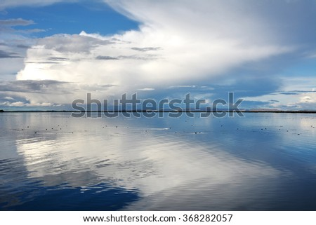 Titicaca Lake in Puno, Peru.  - stock photo