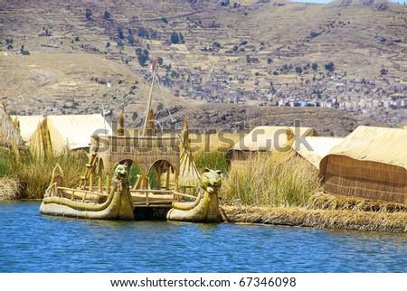Titicaca lake Peru - stock photo