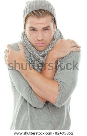 to be cold - stock photo