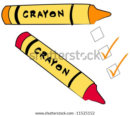 to do check boxes with crayons - stock photo