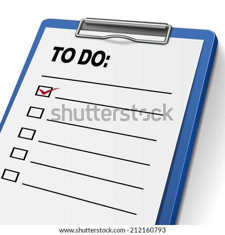 to do list clipboard with check boxes on it - stock photo