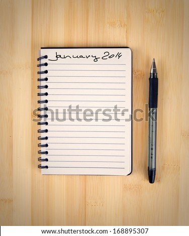 to do list for 2014 january - stock photo