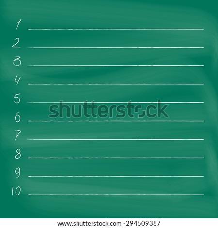 To do list on blackboard. Chalkboard image with empty to do list  - stock photo