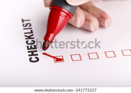 To Do list or checklist with check marks isolated on white - self improvement and time management - stock photo
