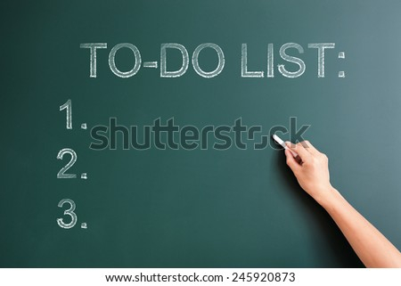 to do list written on blackboard - stock photo