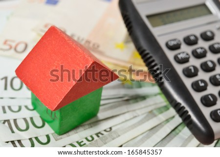 to finance a house - stock photo
