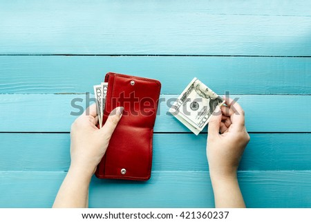 to make purchases, to spend or save up money - stock photo