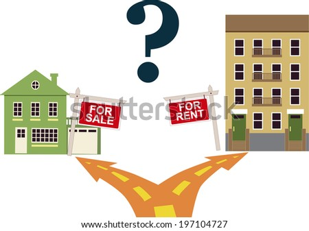 To rent or buy? - stock photo