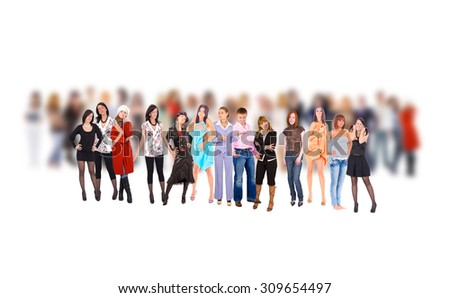 To Stand Out One Individual  - stock photo