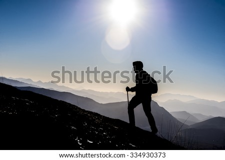 to step into success - stock photo