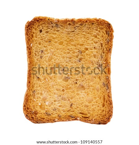 Toast isolated on white with clipping path - stock photo