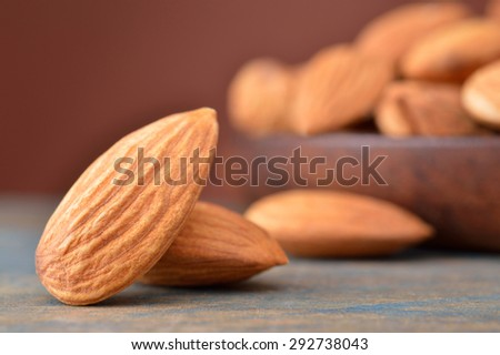 Toasted almonds - stock photo