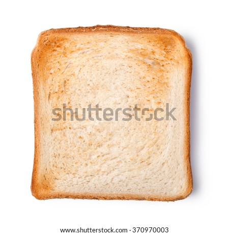 toasted bread isolated on white background - stock photo