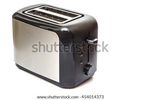 Toaster in white background. - stock photo