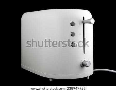 toaster on black background - stock photo