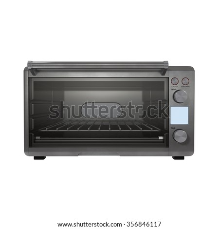 Toaster Oven on White Background - stock photo